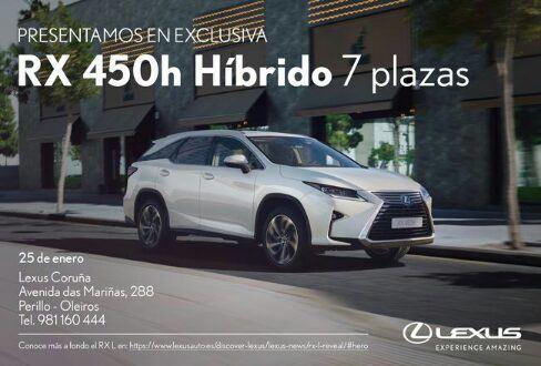 nuevo lexus rx 450h l (7 plazas) llega a coruÑa - grupo breogan