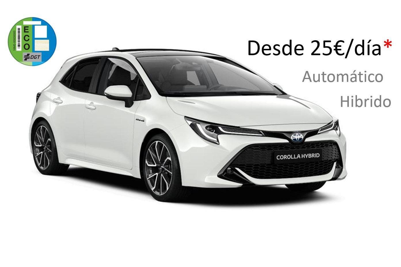 Toyota Corolla Hybrid renting Galicia