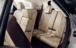 Asientos traseros del Lexus RX L
