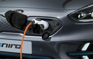 Puerto de carga del nuevo Kia Niro eléctrico