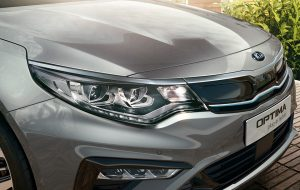 Frontal del Kia Optima PHEV enchufable en Lugo