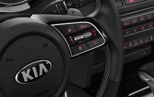 Volante deportivo con levas del nuevo Kia Proceed