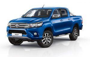 Diseño exterior del Toyota Hilux