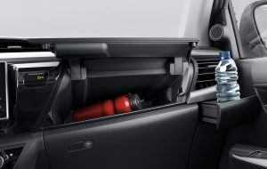 Detalles interiores del Toyota Hilux
