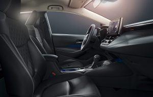 Interior del nuevo Toyota Corolla Sedan 2019