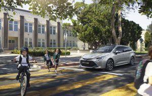 Frenada de emergencia del nuevo Toyota Corolla Touring Sports
