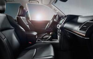 Interior en cuero del Toyota Land Cruiser