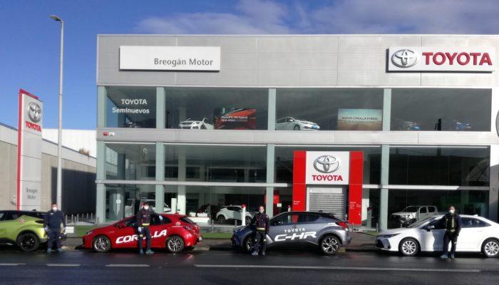 Toyota Narón cede toyotas a Bomberos Narón por coronavirus