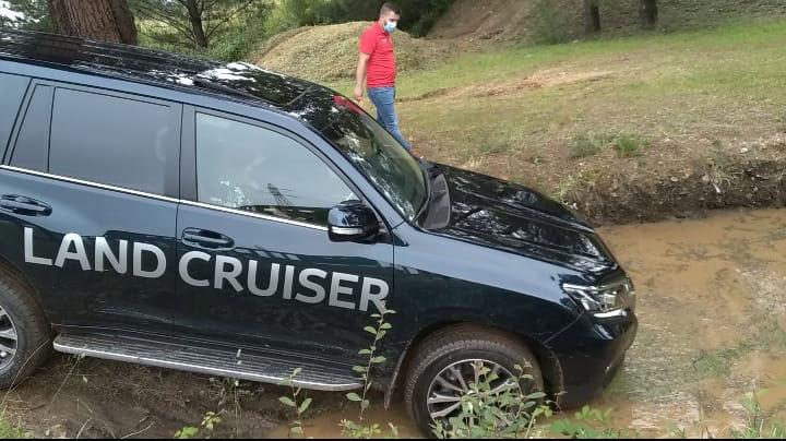Una de las pruebas con el Toyota Land Cruisser