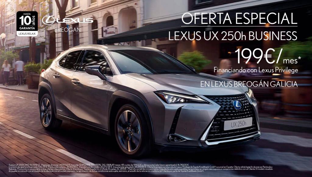 Lexus UX 250h de oferta en Lexus Breogán Galicia