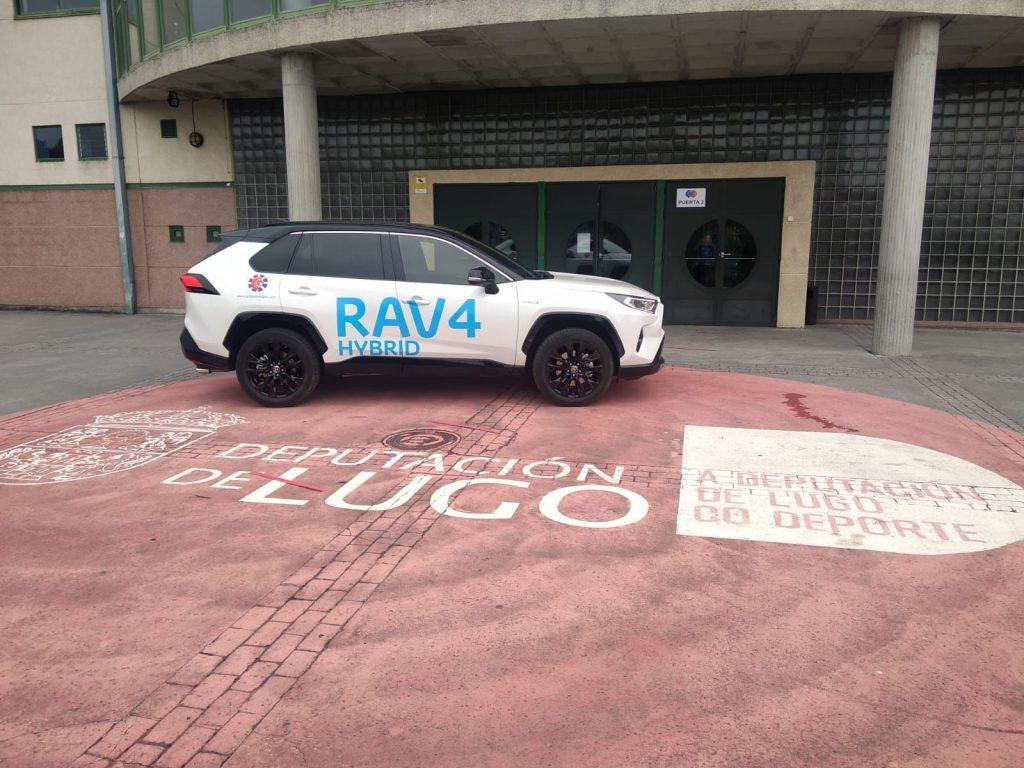 El Toyora Rav4 fue el coche cedido por Toyota Breogán para el Campus Álex Llorca