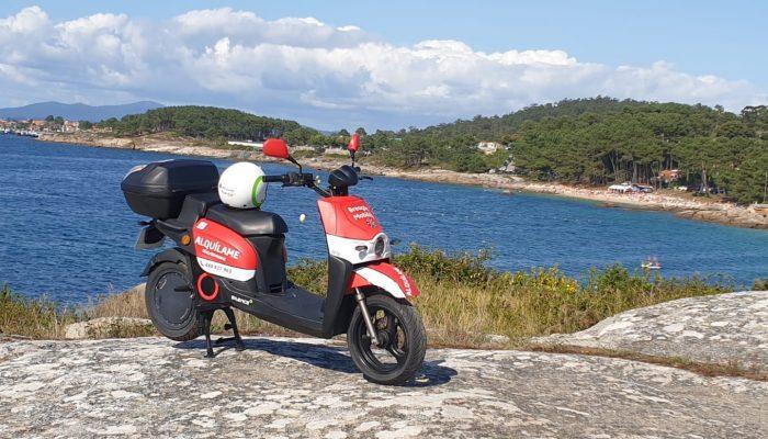 Moto de Breogán Mobility en San Vicente do Mar